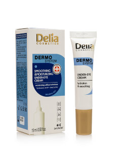 Крем для зоны под глазами Delia Dermo System Smoothing & Moisturizing Under-Eye Cream