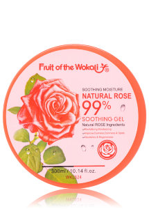 Гель для тела Fruit Of The Wokali Soothing Moisture Natural Rose 99%