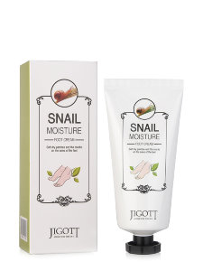 Крем для ног Jigott Snail Moisture Foot Cream