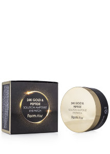 Патчи для глаз FarmStay 24K Gold & Peptide Solution Ampoule Eye Patch
