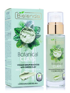 Сыворотка для лица Bielenda Botanical Clays Vegan Serum Booster With Green Clay