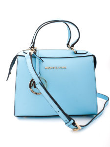 Сумка Michael Kors Savannah Medium Saffiano Leather Satchel Light Blue