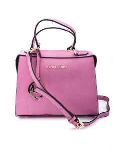 Женская сумка Michael Kors Savannah Medium Saffiano Leather Satchel Pink