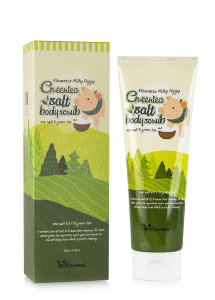 Скраб для тела Elizavecca Milky Piggy Greentea Salt Body Scrub