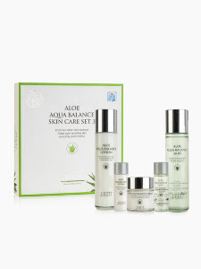 Косметический набор Jigott Aloe Aqua Balance Skin Care 3Set