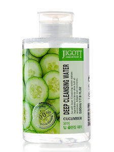 Очищающая вода Jigott Deep Cleansing Water Cucumber