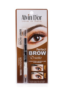 Карандаш для бровей Alvin D`Or Perfect Brow Duetto